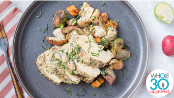 Dijon Chicken with Roasted Vegetables