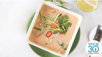 Thai Coconut Red Curry Soup