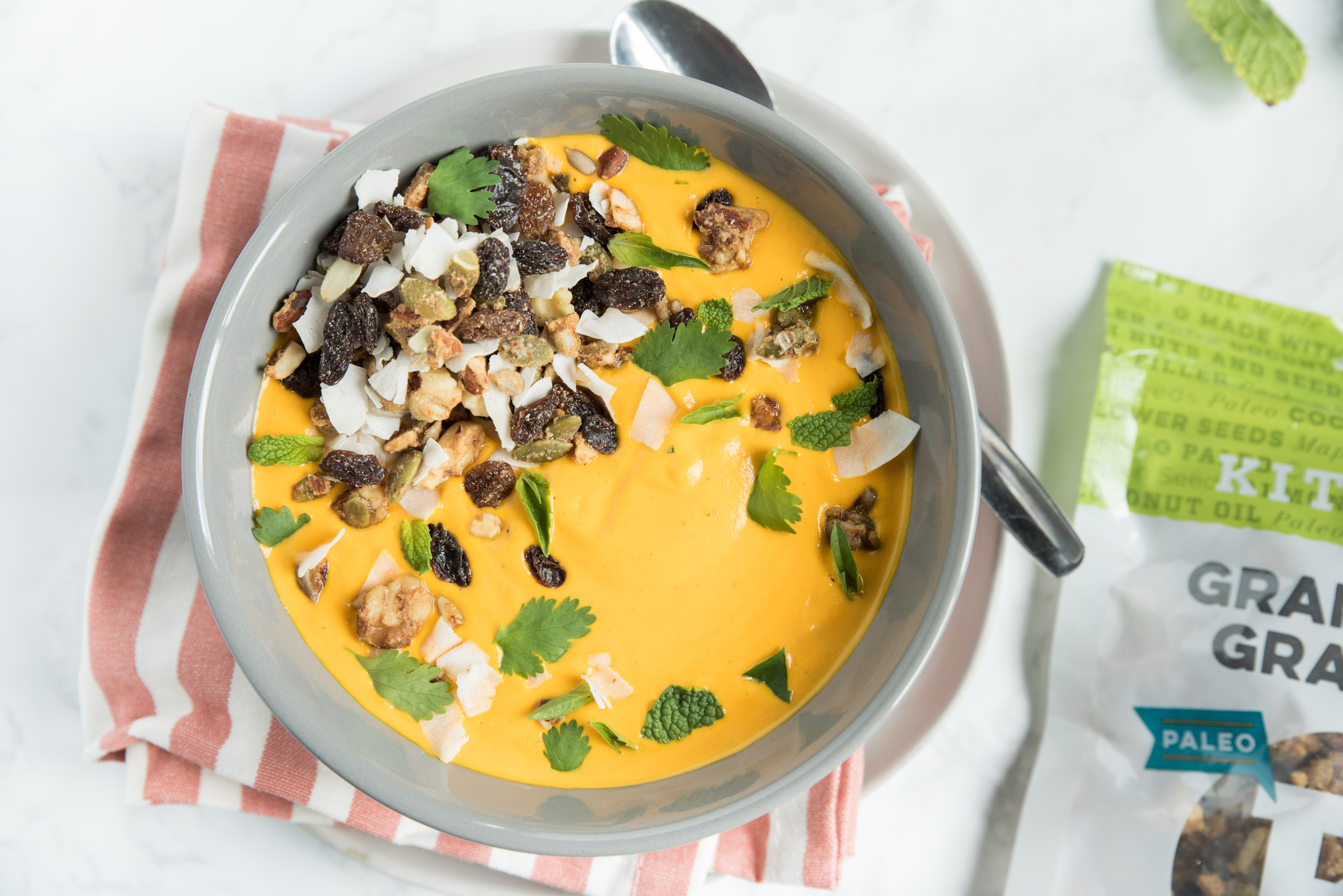 Holiday Recipe: Ginger Carrot Soup with Kitchfix Granola